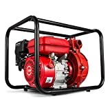 Happybuy Gas-Powered Semi-Trash Water Transfer Pump 2-Inch 7.5 HP Trash Pump 198GPM Gas-Powered Portable Water Pump with 210cc OHV Engine