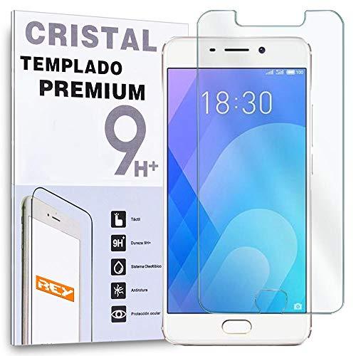 REY Protector de Pantalla para MEIZU M6 Note/MEILAN 6 Note, Cristal Vidrio Templado Premium