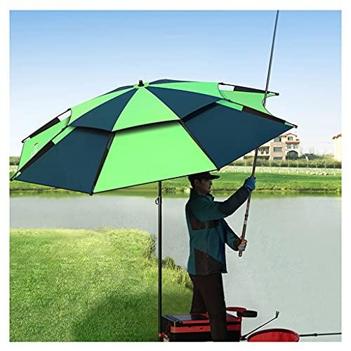 YDDZ Sombrilla de Exterior Paraguas de Pesca a Prueba de Viento Cinta Negra Gruesa Aislamiento Térmico y Protección Solar Protección UV Ajuste Universal Soporte de Carga Fuerte