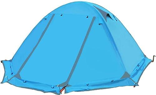 Qifengshop Tente extérieure, Tente de Camping, Double mat en Aluminium Double, Anti-tempête, Fournitures de Camping de Voyage