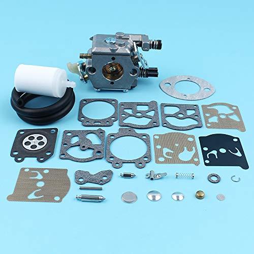 Carburateur Carb Repair Rebuild Kit voor Husqvarna 51 55 Kettingzaag #503281504 Walbro WT-170-1 Brandstoflijnfilter