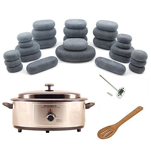 Hot Stone Warmer Zabrina Massage Stones Warmer HOT STONE MASSAGE KIT: 27 Basalt Stones + 6.5 Quart Hot Stone Heater