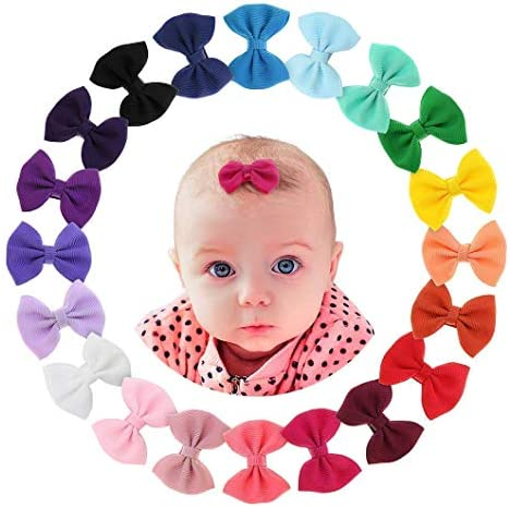 Newborn Baby Snap Hair Clips Tiny Bow Non Slip Barrettes For Infant Fine Hair Mini Bow Girl product image