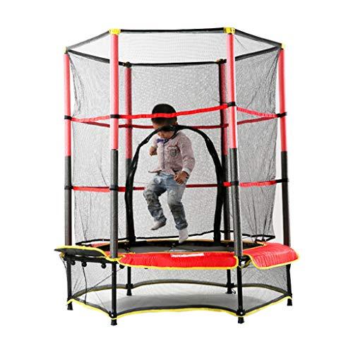Gartentrampoline Trampolin Kindertrampolin Innentrampolin mit Netzspringbett Kinder-Trampolin-Fitnessgeräte (Color : Red, Size : 140 * 140 * 160cm)