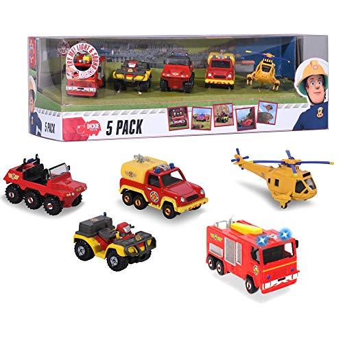 Sam, el bombero Júpiter Luz & Sonido Set 5 Vehículos | Mini Serie Die Cast