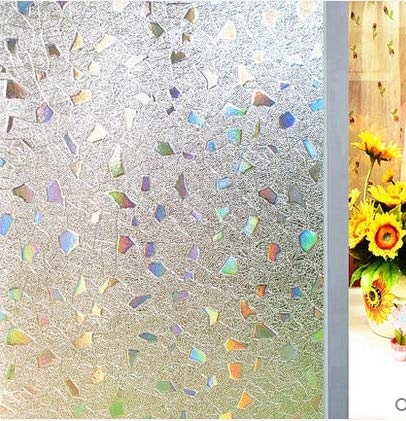 LMKJ PVC Etiqueta estática vidrieras película Decorativa de la Ventana Etiqueta de privacidad baño Gema película de Ventana de Vidrio Etiqueta de Vidrio de privacidad A3 60x200cm