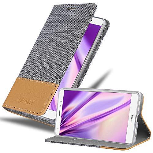 Preisvergleich Produktbild Cadorabo Hülle für Huawei Mate S in HELL GRAU BRAUN - Handyhülle mit Magnetverschluss,  Standfunktion und Kartenfach - Case Cover Schutzhülle Etui Tasche Book Klapp Style