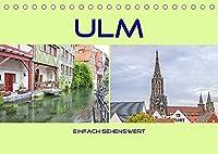 Ulm - einfach sehenswert (Tischkalender 2022 DIN A5 quer): Ulm an der Donau (Monatskalender, 14 Seiten )