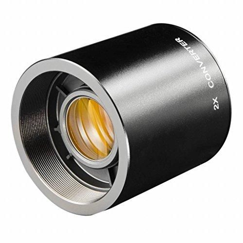 Walimex 12602 - Potenciador Zoom x2 (con Montura para T2), Color Negro