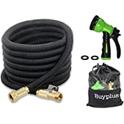 25/50/75/100 feet Expandable Garden Water Hose on/off Valve and Storage Bag by Buyplus