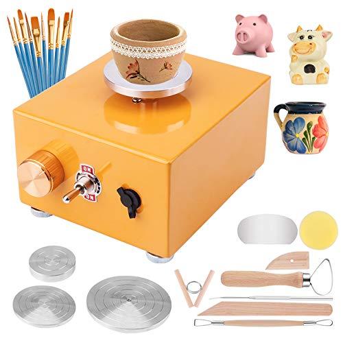 Yofuly Máquina de cerámica USB con 6 herramientas de modelado de...