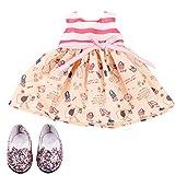 Götz 3403217 Wonderland Set per bambole che stanno in piedi - Taglia XL - Set di abbigliamento / accessori per bambole - Adatto per bambole che stanno in piedi Taglia XL (45-50 cm)