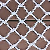 OLMME Balcón Neto de Seguridad, Nylon Durable Neylon Nets Outdoor Barandilla Seguridad Red Stail Anti-Fall Net Truck Net Mascota Net Garden Decorativo Net Malla-Blanco(Size:4 * 4m/13.1 * 13.1ft)
