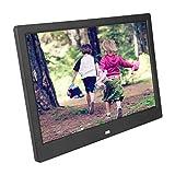 Marco de imagen digital WIFI de 12 pulgadas,marco de álbum de fotos digital 1280 * 800 Pantalla LED HD,memoria de expansión de soporte,para sistema Android,mejor regalo de festival de negocios(Negro)