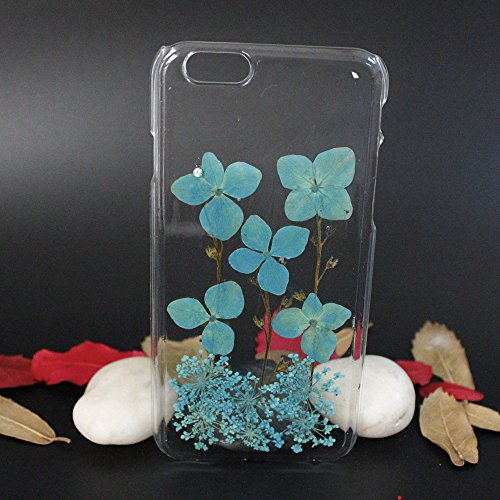 Rutehiy Case for iPhone 6S, iPhone 6 Real Pressed Flower Phone Case iPhone 6 Soft TPU Transparent iPhone 6S Case and Cover 4.7