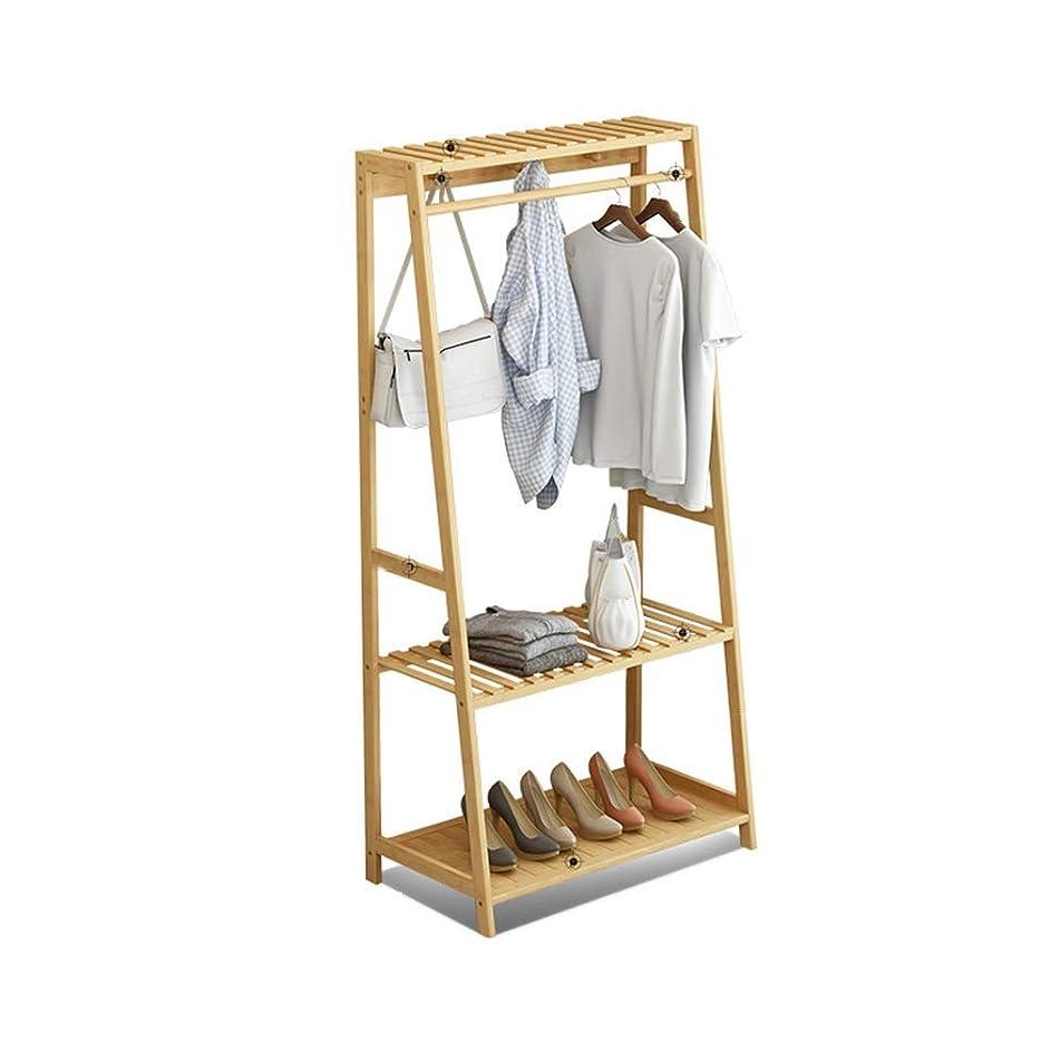 ジャンプする鬼ごっこ歩くコートラック 頑丈な調節可能な衣服の柵の衣服の衣服の棚は廊下で、帽子の靴およびスカーフのために、6つのホックと折りたたみ可能、居間、客室 (色 : Primary color, サイズ : Length 60cm)