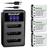 Kastar Battery 3-Pack + LCD Triple Charger...
