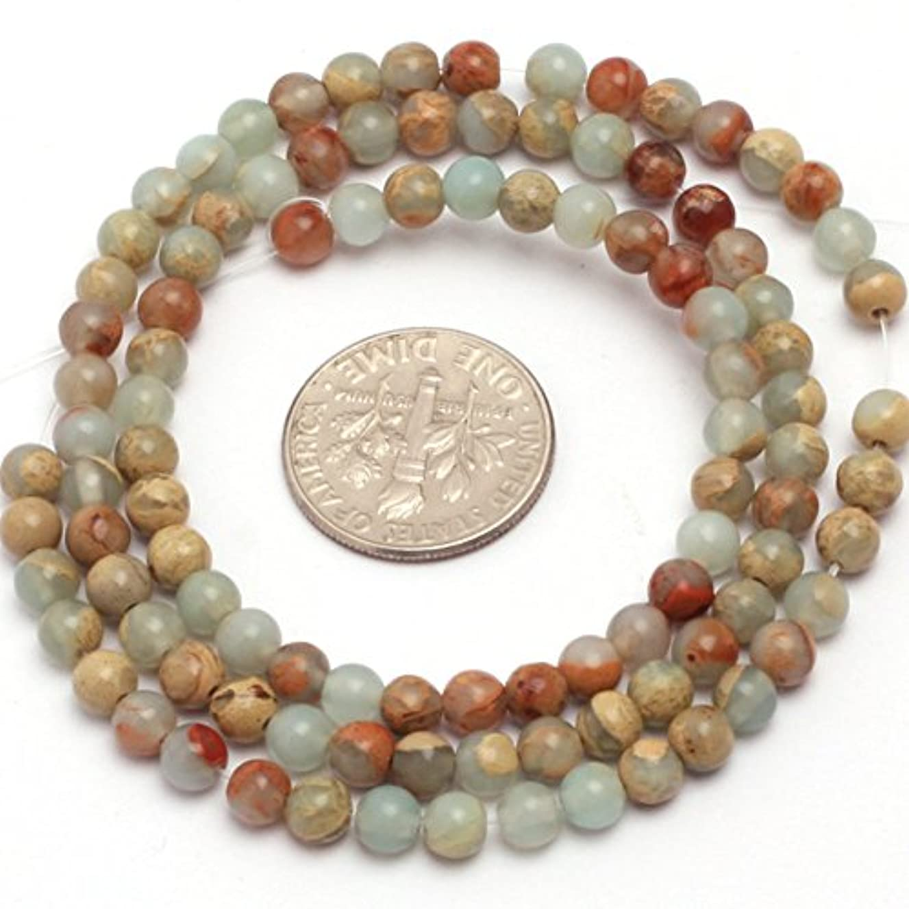 JOE FOREMAN 4mm Shoushan Semi Precious Gemstone Round Loose Beads for Jewelry Making DIY Handmade Craft Supplies 15