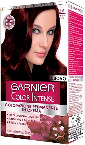 Teinture pour les cheveux color intense con olio di semi d'uva 2,6 noir rouge