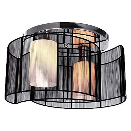Lxhgl Nero Semi Incasso con 2 luci, Mini Stile lampadari Moderna plafoniera per corridoio, Sala da Pranzo, Soggiorno