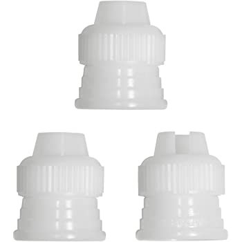 PME Icing Bag Adaptors, Set of 3, White