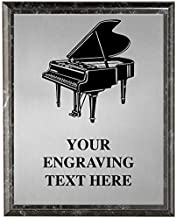 Piano Plaques, Personalized Music Piano Recital Trophy Plaque Award, Great Custom Engraved Pianist Awards Prime