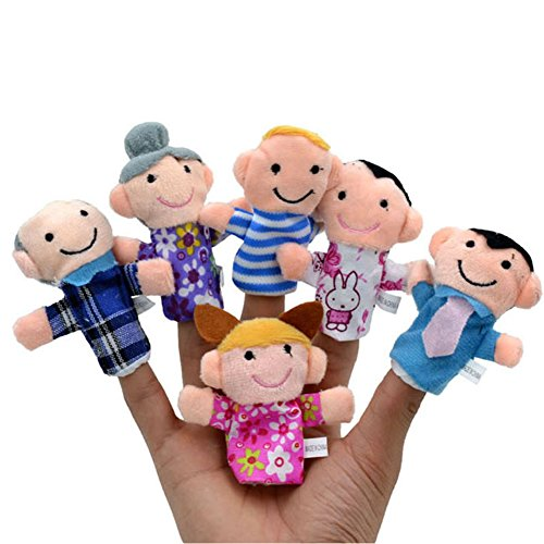 Facaily 6 Pcs Finger Puppets for Toddlers Kids Adults Family Members Hand Puppet