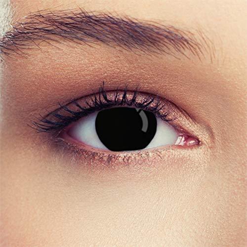 Schwarze farbige Kontaktlinsen für Halloween Farblinsen in schwarz Model: Blind Black + gratis Kontaktlinsenbehälter (innerhalb Dt.)