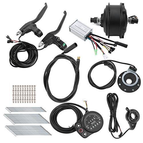 Alomejor Kit de conversión de Bicicleta eléctrica de 36V 250W 12G 26in con Controlador Kit de conversión motorizado eléctrico de medidor KT-900S(Motor de accionamiento Delantero)