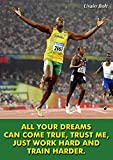 Usain Bolt Sprinter Olympiasieger Bunt Motivationsposter #6