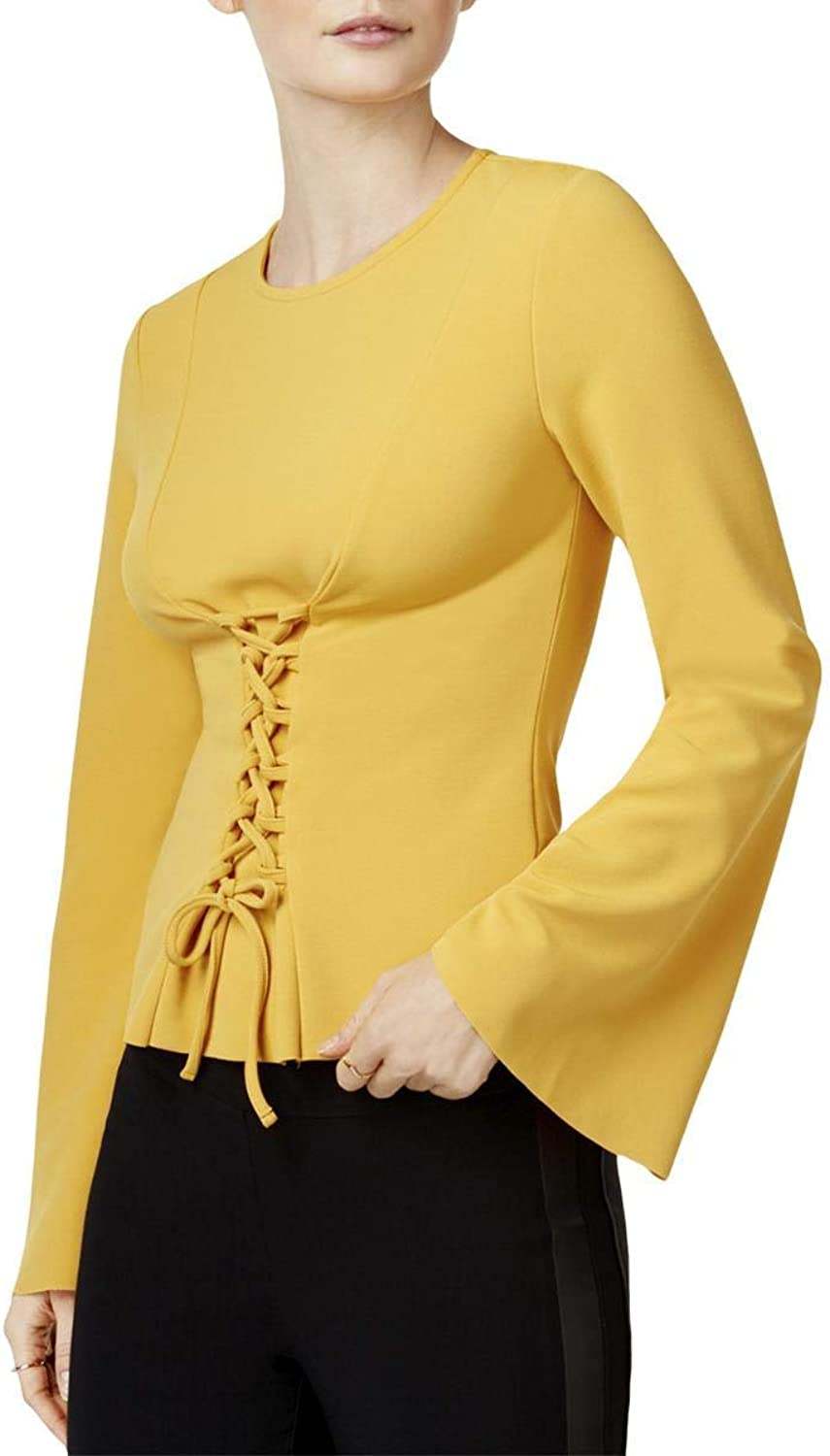 Bar Iii Womens Corset Knit Blouse
