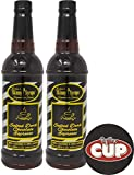 Jordan's Skinny Syrups Sugar Free Signature Series Salted Dark Chocolate Espresso 750 ml (Pack of 2) with By The Cup Coaster