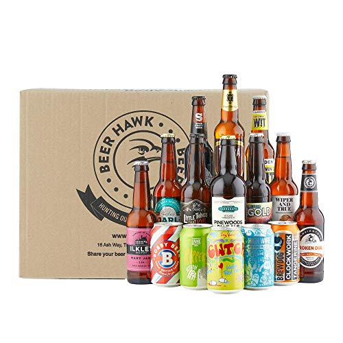 Beer Hawk British Beer Case - 15 Beers per Case - British Beer Present Idea