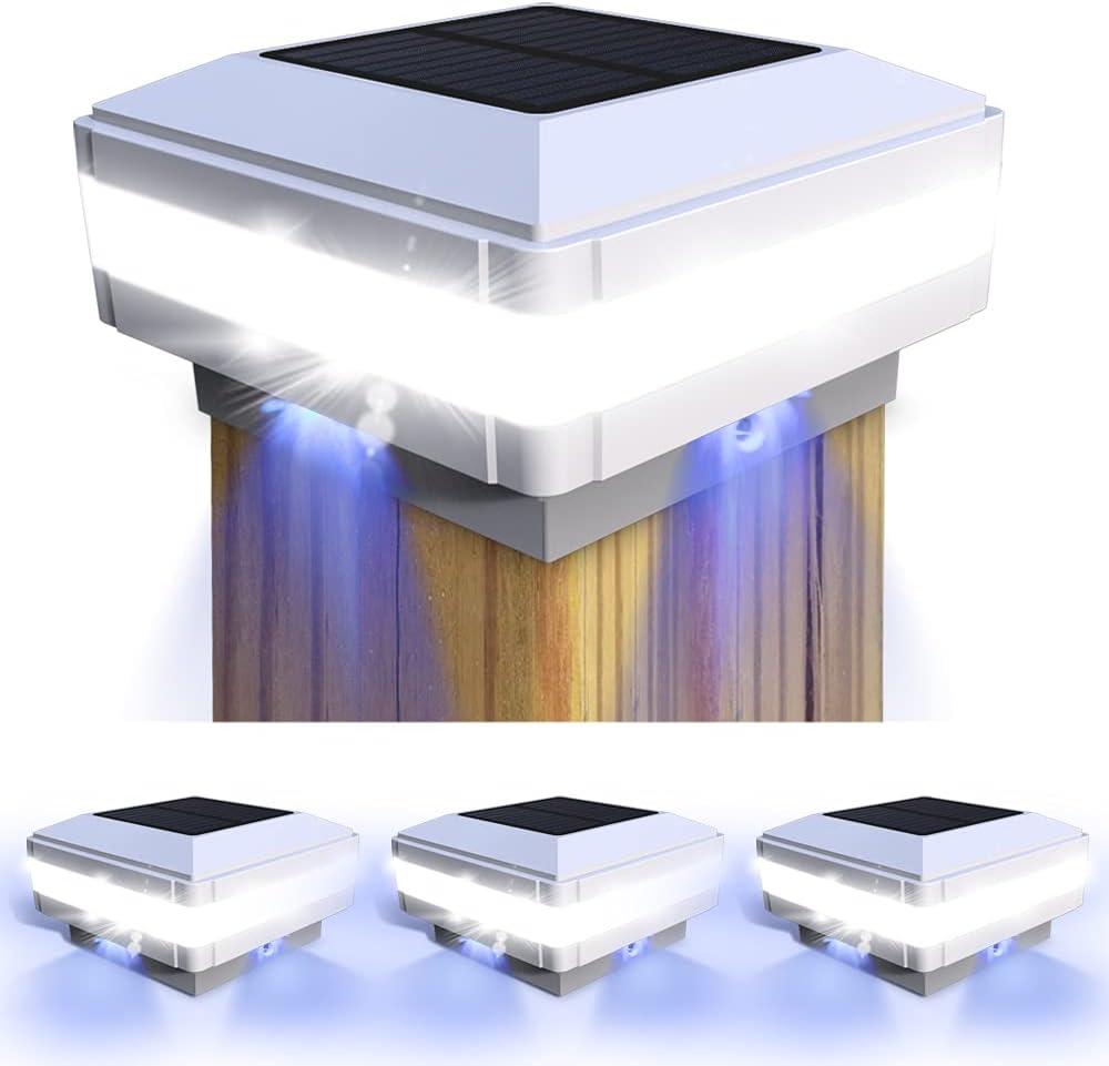 Solar Outdoor Post Cap Lights, FVTLED LED Flexfit Solar Powered