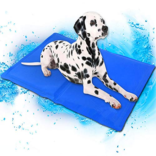 FDGTOF Hund Kühl Matte Pet EIS Pad Teddy Matratze Haustier Kühlen Matte Bett Katze Kissen Sommer Halten Kühlen Haustier Gel Kühlung Hund Matte Für Hunde XS-XXL,L:65 * 50
