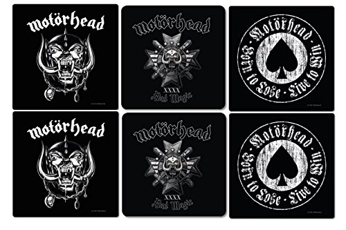Motörhead - Coaster Set van 6 - Bad Magic - Aces Of Spades - logo