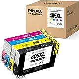PINALL 405XL Druckerpatronen Kompatibel EPSON 405 EPSON 405XL für Epson WF-4820DWF,WF-3820DWF,WF-4830DTWF,WF-7840 DTWF,WF-3825 DWF,WF 4825DWF,WF-7830 DTWF,WF-7835(1 Schwarz/1 Cyan/1 Magenta/1 Gelb)