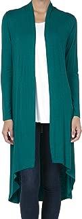 SHOP DORDOR Women's Long Sleeve Duster High Low Hem Long Open Front Drape Maxi Cardigan