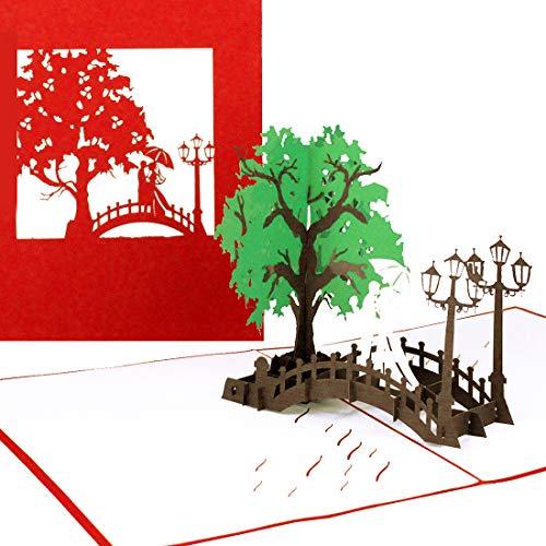 """Pop Up Karte\""""Wedding Bridge\"""" - 3D Hochzeitskarte und Einladungskarte zur Hochzeit, Gutschein und Geldgeschenk – Verlobungskarte, Hochzeiteinladung, Geschenkgutschein, Einladungskarten mit Umschlag"""