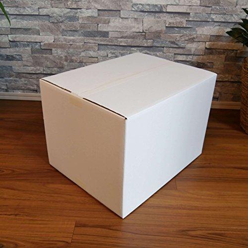 『ボックスバンク ダンボール(段ボール箱)120サイズ 白 5枚セット 引越し・収納 FW05-0001』のトップ画像