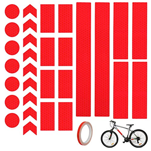 BAMZOK Reflektierende Aufkleber Reflektor Sticker Reflektierende Aufkleber Reflexfolie Set Selbstklebend Hochreflektierend von Kinderwagen Fahrrädern Helmen Rucksack Wagen Baustelle Skateboard