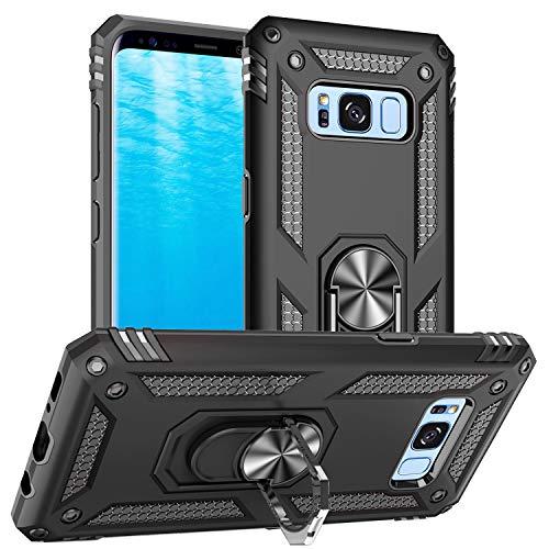 Pegoo Custodia Galaxy S8,Silicone Cover Armatura Antiurto Copertura Cassa Custodia per Samsung Galaxy S8 (Nero)