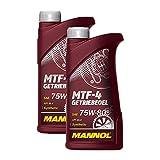 2 x aceite de transmisión Mannol MN8104-1 MTF-4 75W-80, caja de cambios manual API GL-4 1L
