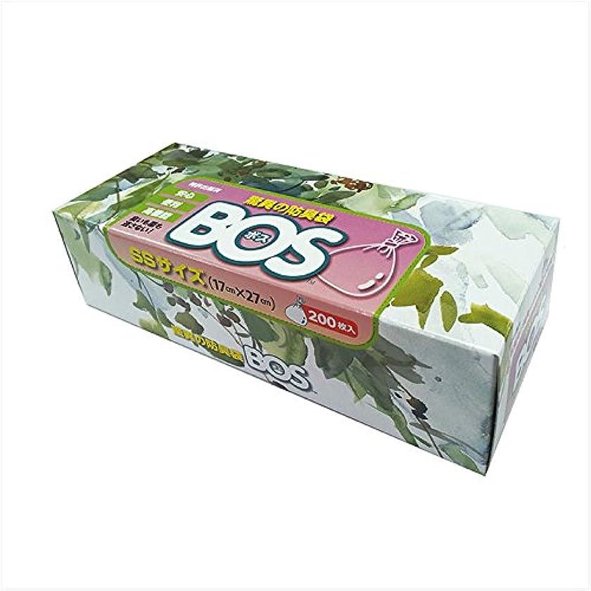 開拓者後関係ない驚異の防臭袋 BOS (ボス) SSサイズ 大容量 200枚入り エチケット袋 【袋カラー:ホワイト】 (袋カラー:ホワイト)
