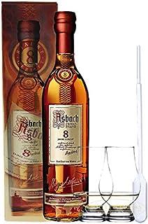 Asbach Uralt Privatbrand 8 Jahre 0,7 Liter  2 Glencairn Gläser und Einwegpipette