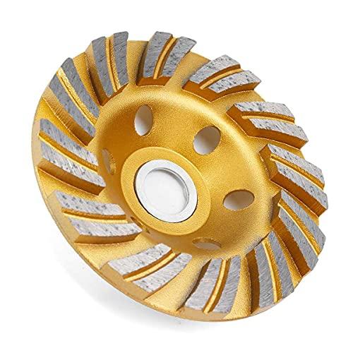 Eficiente de 4'100 mm Diamante Muela de recipiente Discos Discos Disc Murning Cup Concreto Granito Piedra Cerámica Disco de corte Disco Desbaste Hormigon (Outer Diameter : Gold Type 2)