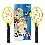Zap It Bug Zapper Battery Powered (2xAA Included) Bug Zapper Racket, 3,500 Volt, 2 Pack