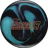 Ebonite Turbo/R – Noir/Bleu, Surface polie – Boule de Bowling réactive pour débutants et Joueurs de Tournoi – avec nettoyant de Balle EMAX 100 ML, 12 LBS