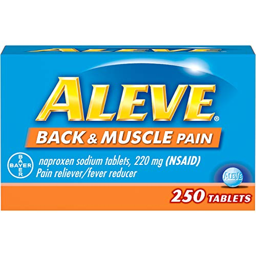 Aleve Back and Muscle Pain Tablets, Fast Acting All Day Targeted Relief for Headache, Muscle, and Back Pain, Naproxen Sodium Capsules, 220 mg (250 Count)