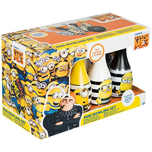 DESPICABLE ME 3 Minions Ten Pin Bowling Skittles And Ball Set Kids Children Official